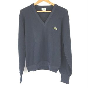 VTG IZOD Lacoste Mens Sweater Navy Blue Sz M